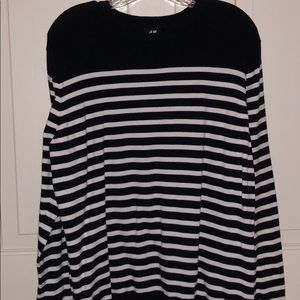 Navy Blue and White Striped Sweater from H&M